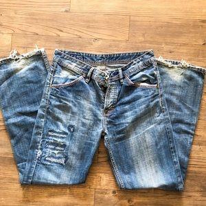 Men's Diesel Distressed Medium Wash Jeans
